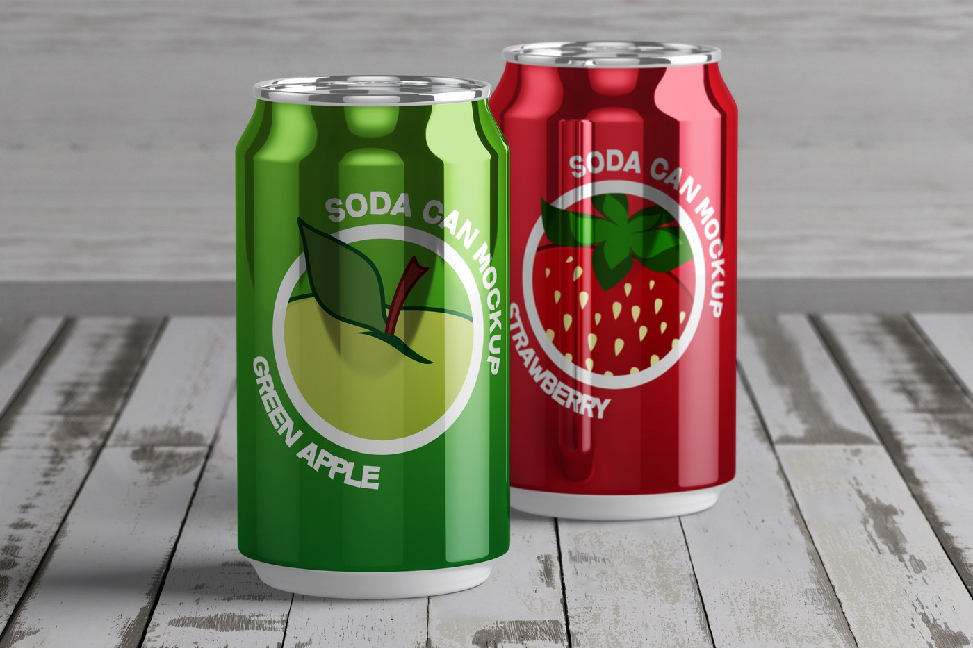 Free Soda Tin Can Mockup PSD 2