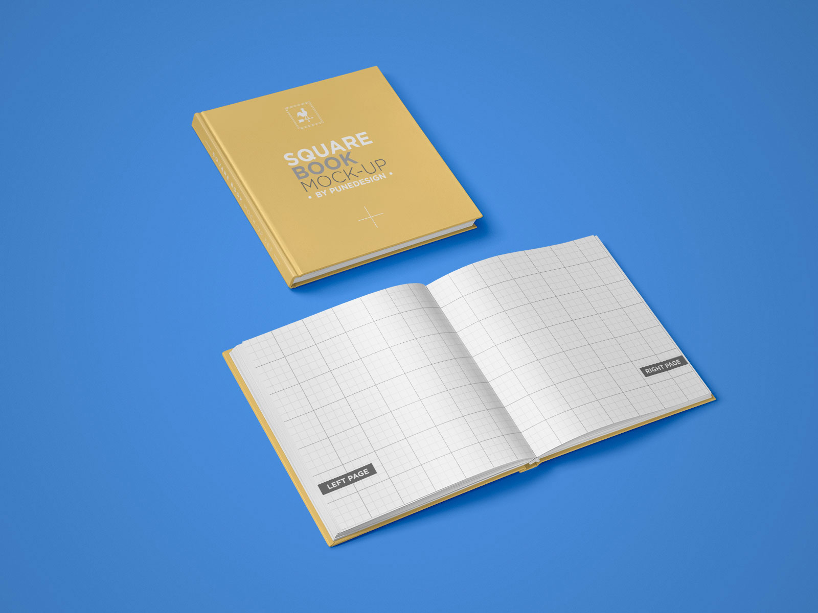 Free-Square-Hardcover-Title-&-Opened-Book-Mockup-PSD