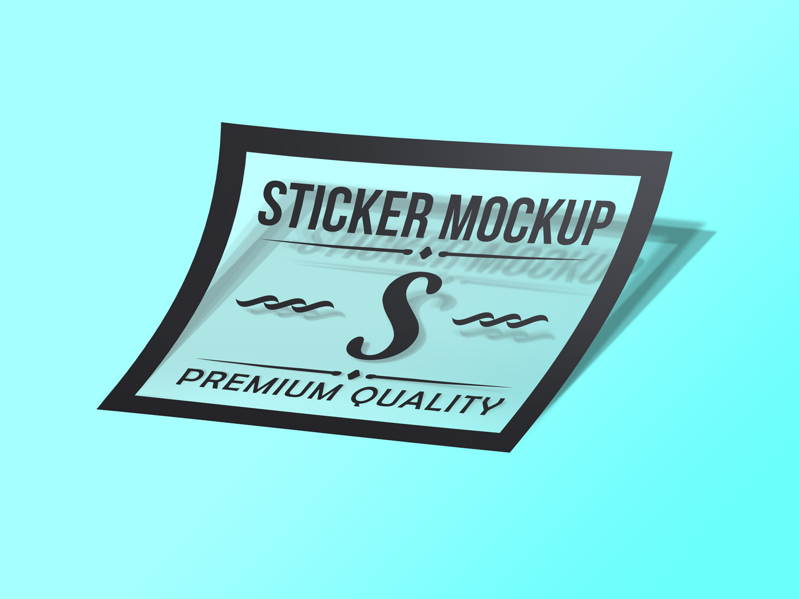 Free Photorealistic Transparent Sticker Mockup PSD - Good Mockups