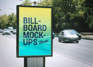 2-Free-Bus-Stop-&-Roadside-Billboard-Mockup-PSD-Files