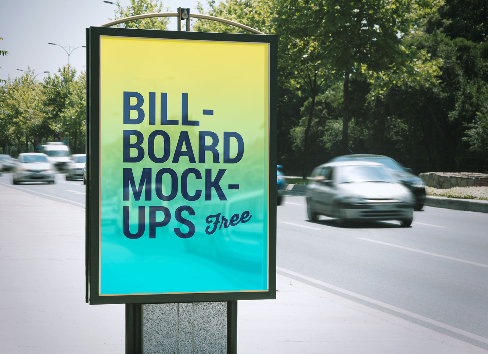 2-Free-Bus-Stop-&-Roadside-Billboard-Mockup-PSD-Files