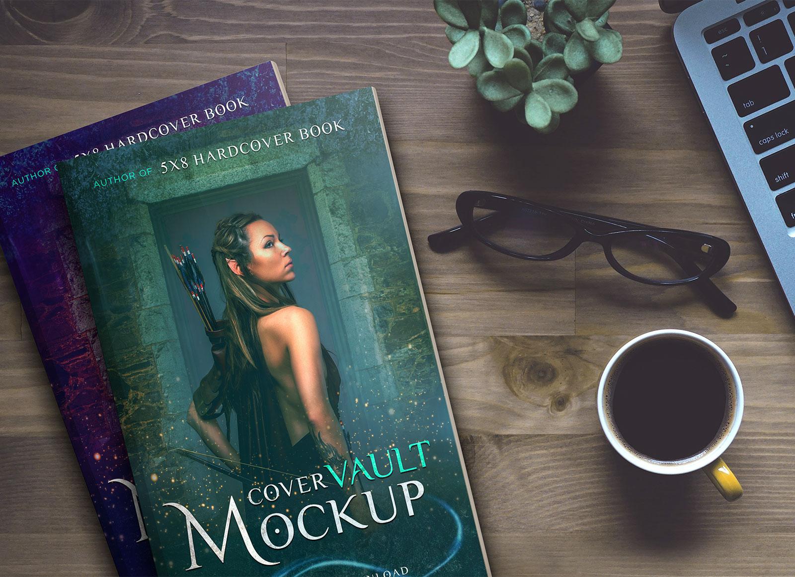 Free-5-x-8-Hardcover-Book-Mockup-PSD