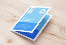 Free A5 Bi-Fold Brochure Leaflet Mockup PSD Set (7)