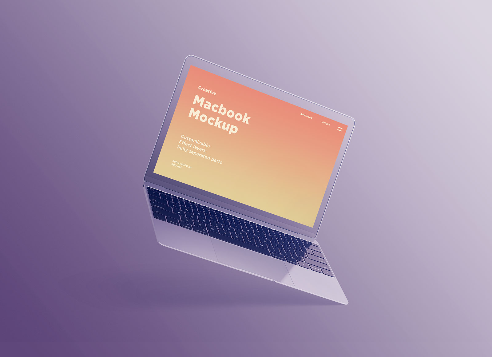 Free-Apple-Macbook-Mockup-with-Colorful-Spheres-4