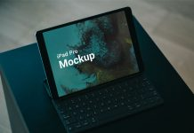 Free-Apple-iPad-Pro-with-Keyboard-Mockup-PSD