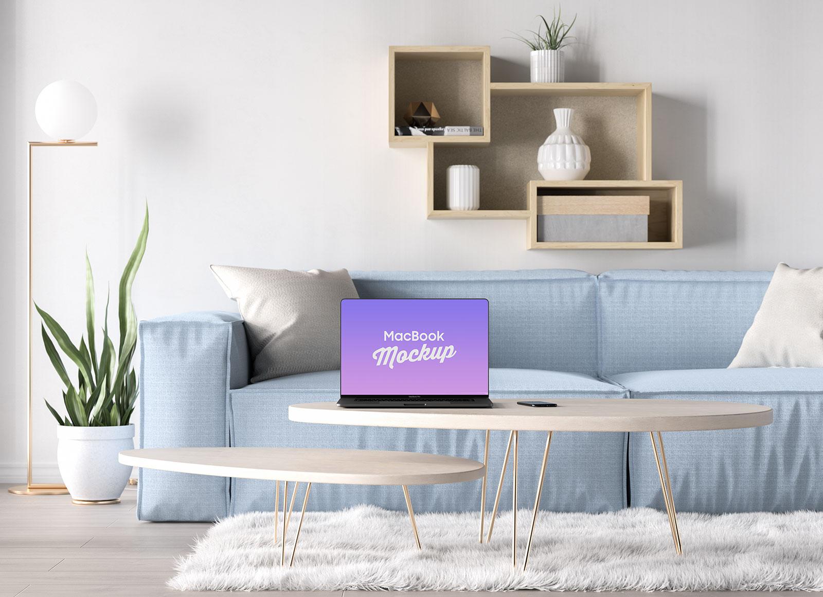 Free-Bezel-Less-MacBook-Pro-2019-in-Table-Mockup-PSD