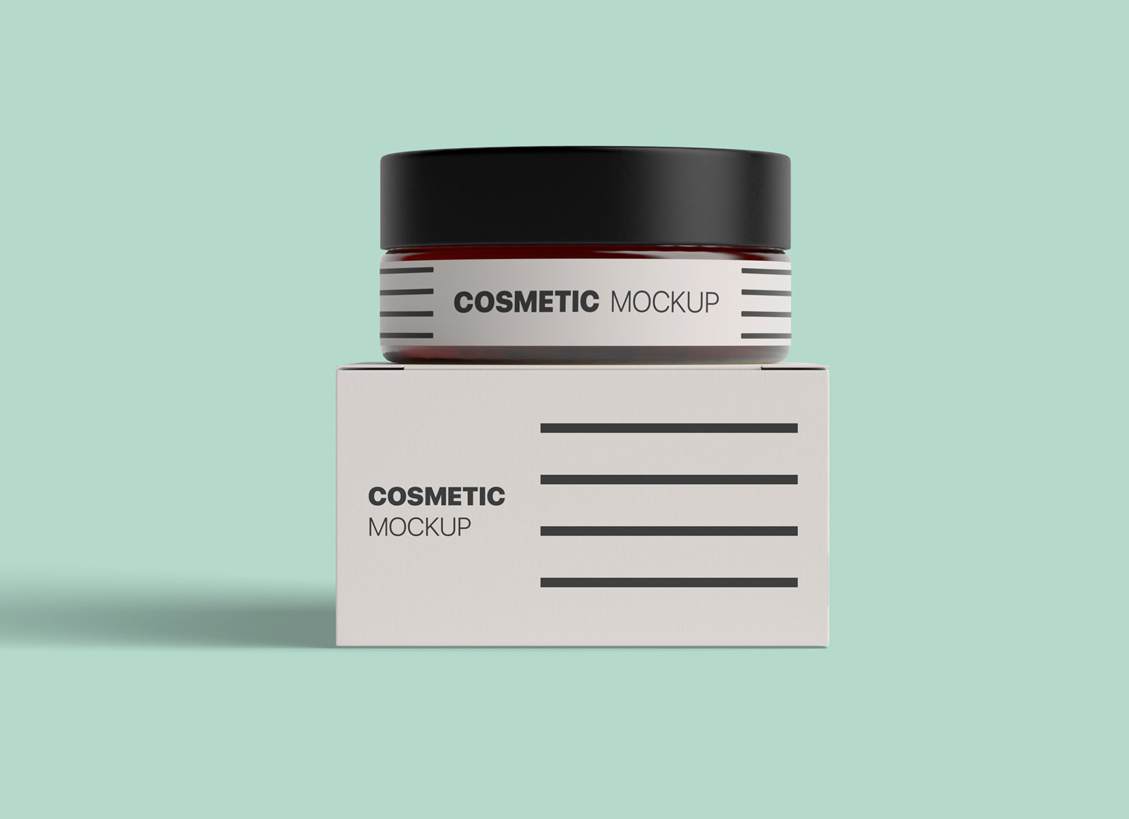 Free-Cosmetic-Bottle-&-Box-Packaging-Mockup