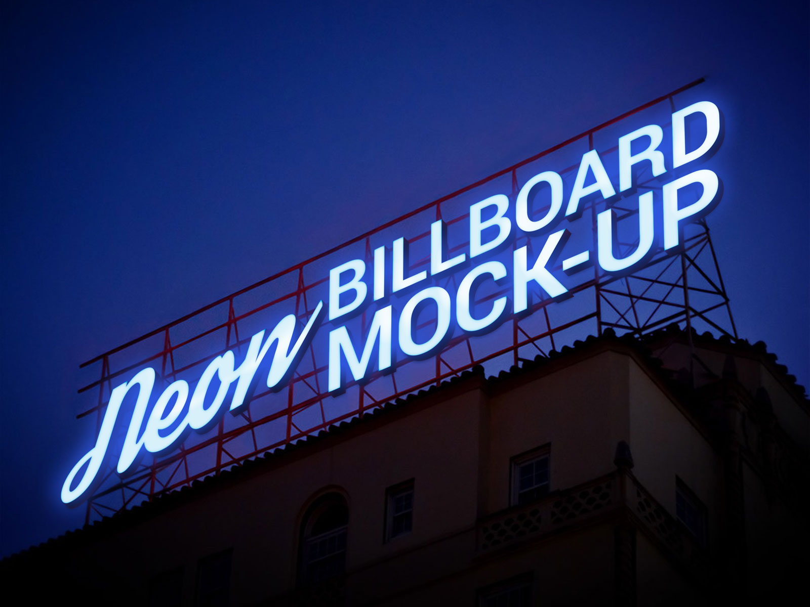 Free-Electronic-Neon-Sign-Billboard-Mockup-PSD-2
