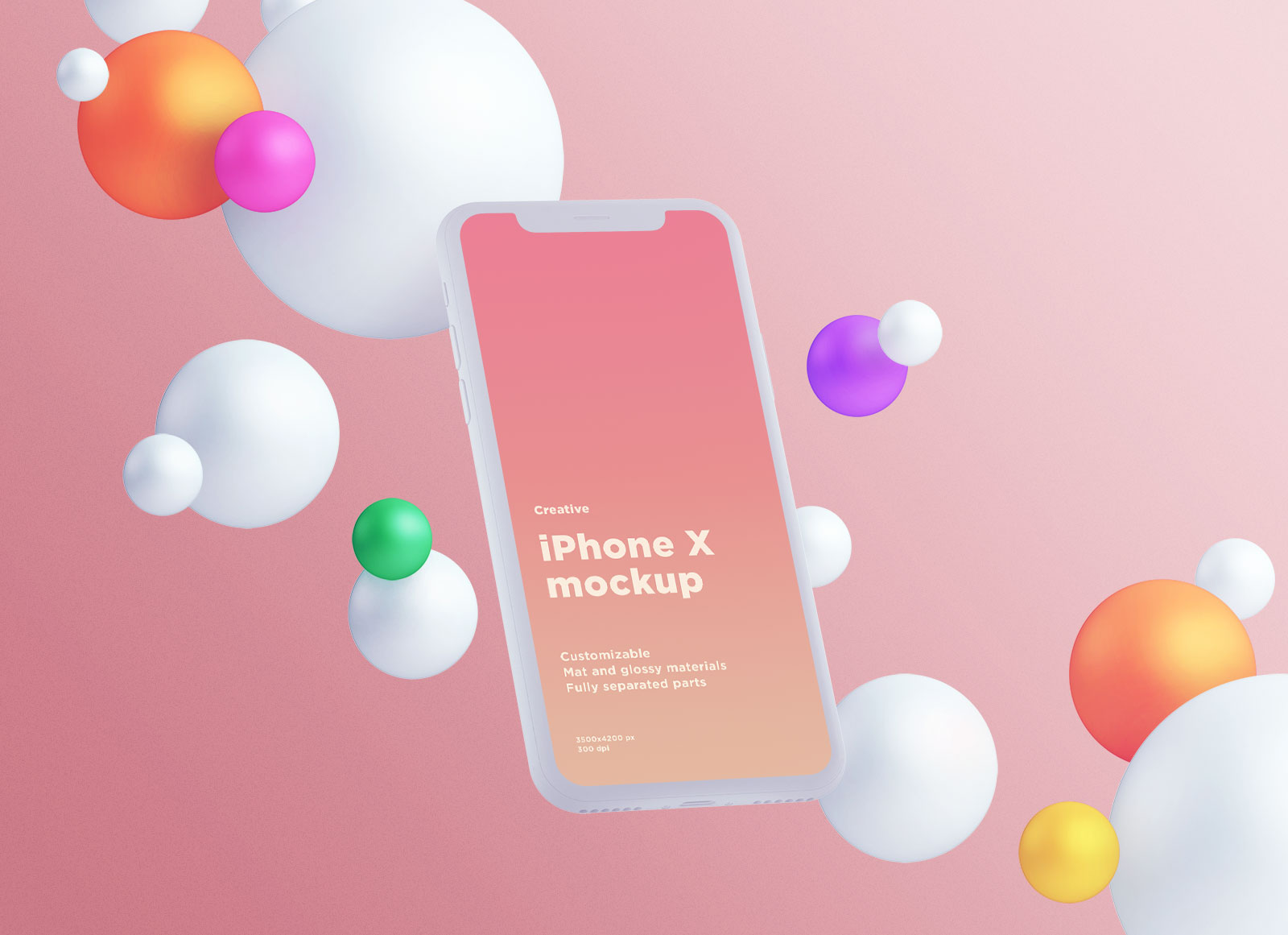 Free-Fully-Customizable-Floating-iPhone-X-Mockup-PSD-2