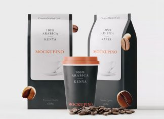 Free-Paper-Coffee-Cup-&-Packaging-Mockup-PSD-Set