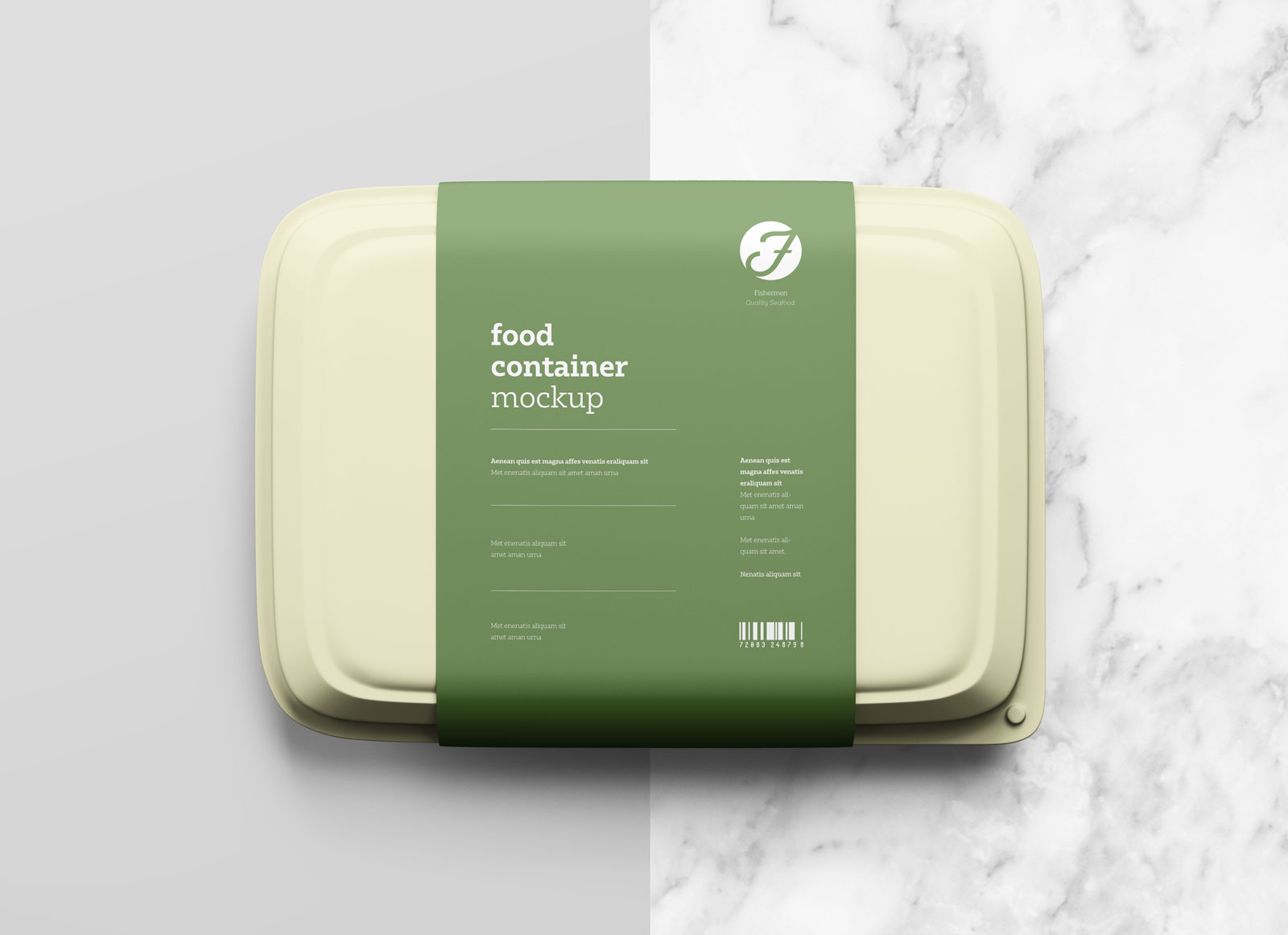 Free Plastic Food Box Packaging Mockup PSD