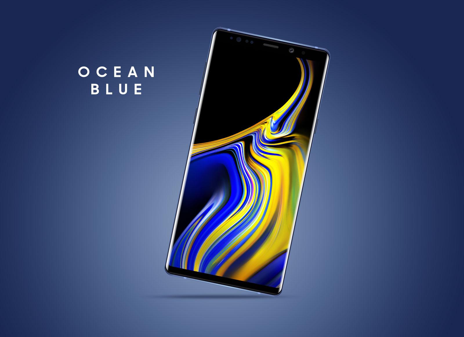 Free-Samsung-Galaxy-Note-9-Mockup-PSD-Ocean-Blue-Color