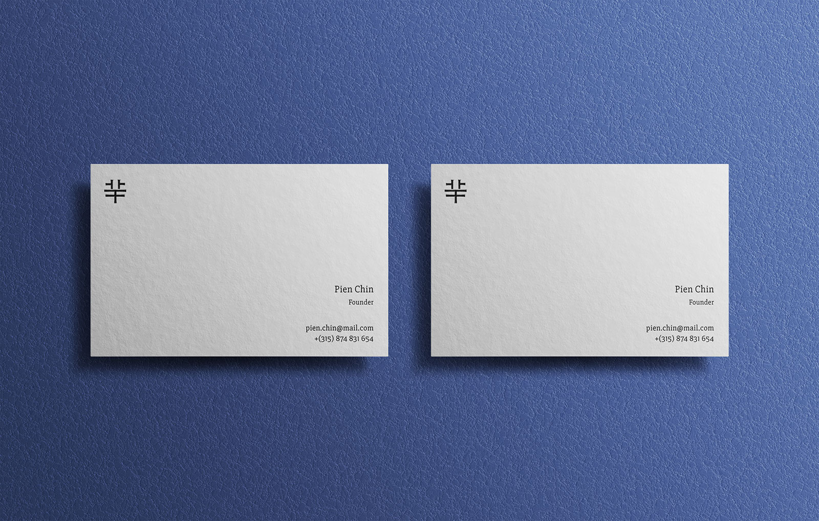 Free Simple Business Card Mockup PSD Files