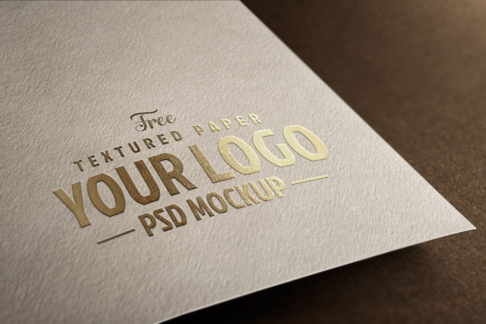 Free Textured Paper Logo Mockup PSD Set (1)