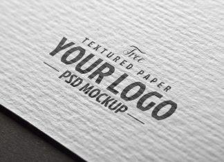 Free Textured Paper Logo Mockup PSD Set (2)
