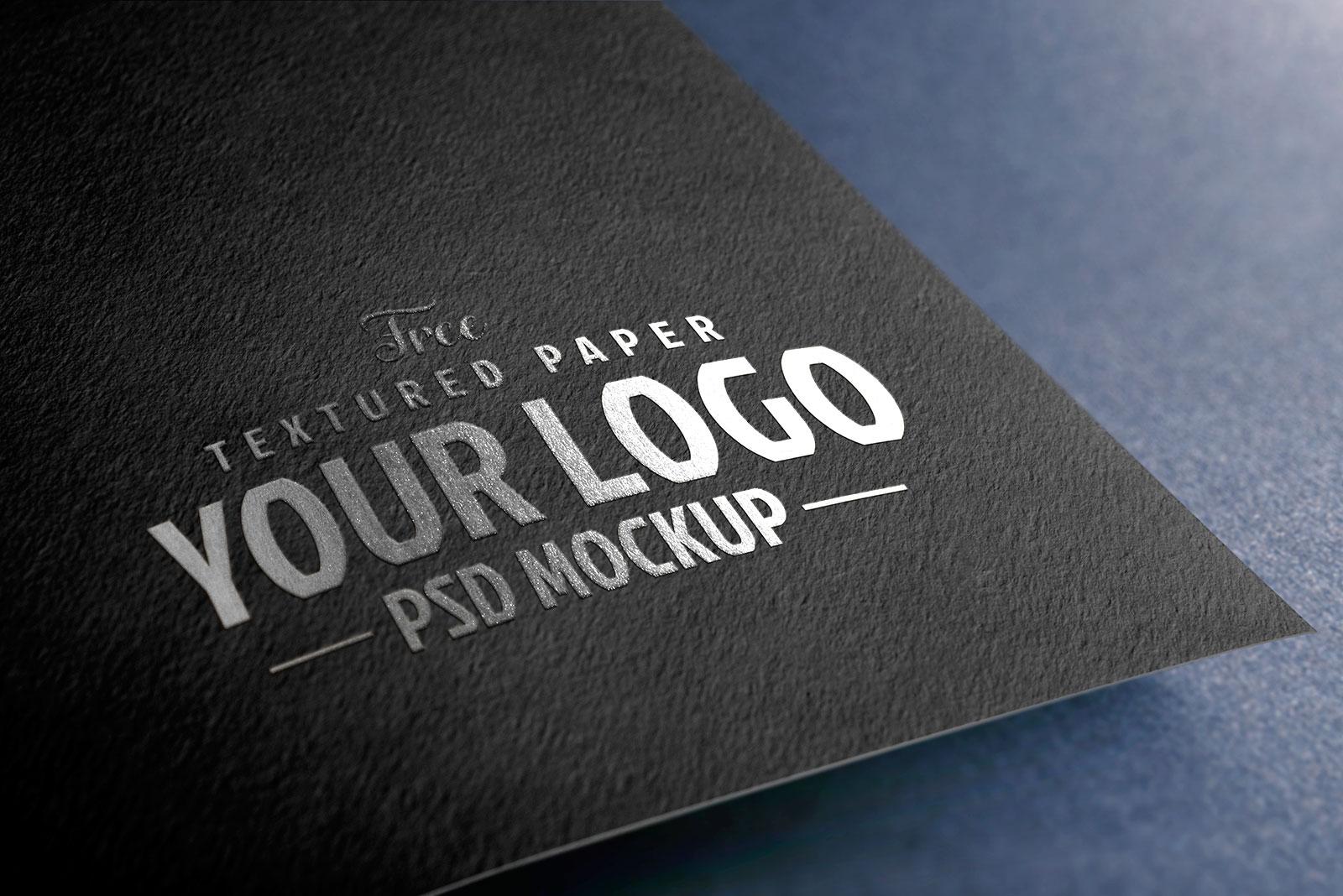 Free Textured Paper Logo Mockup PSD Set (4)