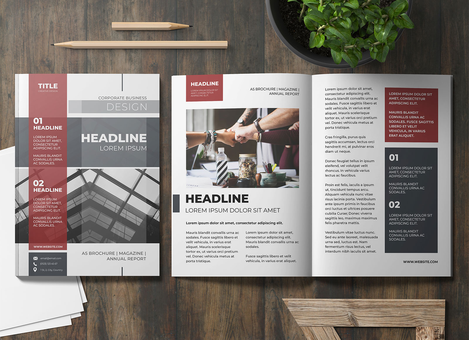 Free-Title-&-Inner-pages-Magazine-Mockup-PSD