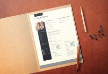 Free U.S. Paper Letter Size Mockup For Business Document, Letterhead or Resume