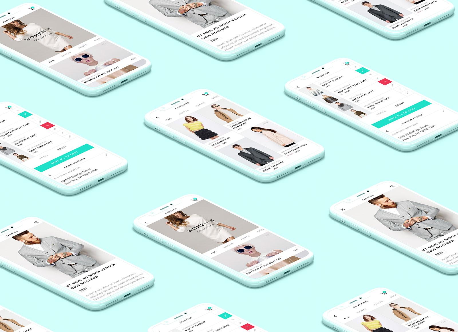 Free-iPhone-X-Isometric-Monochrome-UI-Presentation-App-Mockup-PSD-2