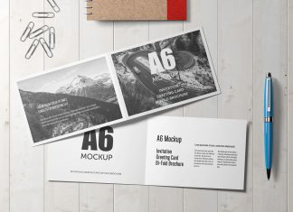 Free-A6-Bi-Fold-Brochure,-Wedding-Invitation,-Greeting-Card-Mockup-PSD