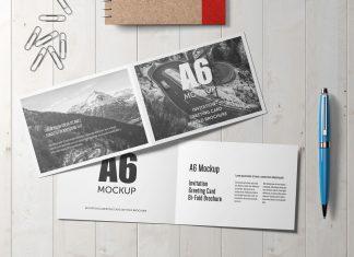 Free-A6-Bi-Fold-Brochure,-Wedding-Invitation,-Greeting-Card-Mockup-PSD