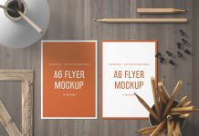 Free-A6-Size-Front-&-Back-Flyer-Mockup-PSD