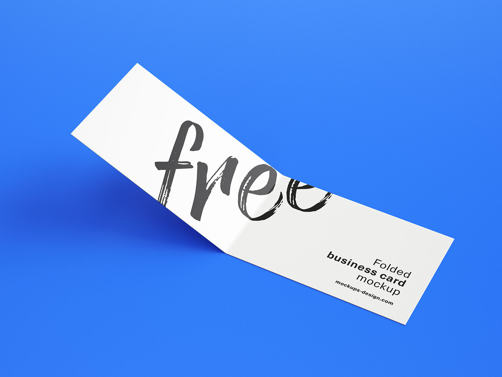 Free Folded Business Card Mockup PSD Set (1)