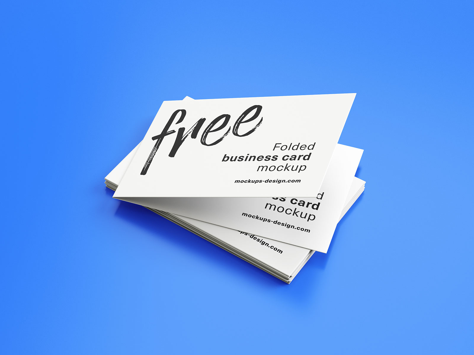 Free Folded Business Card Mockup PSD Set (3)