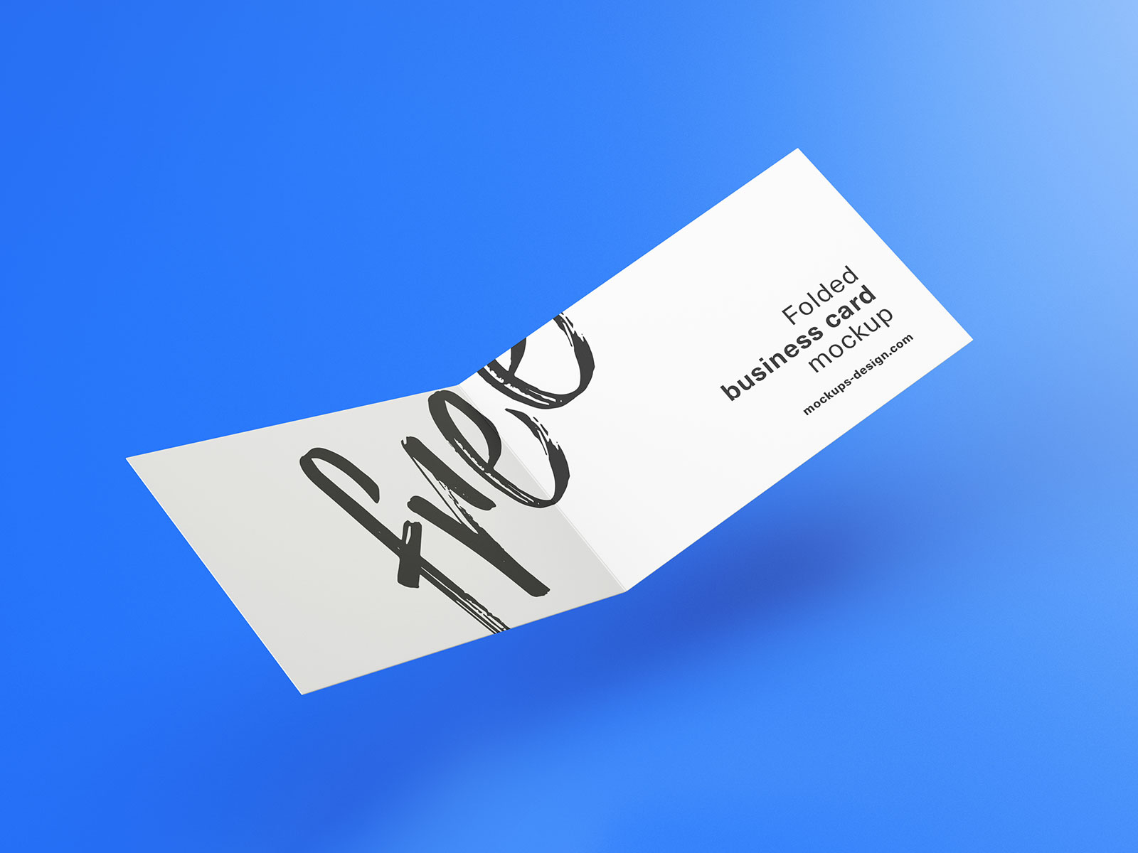 Free Folded Business Card Mockup PSD Set (5)