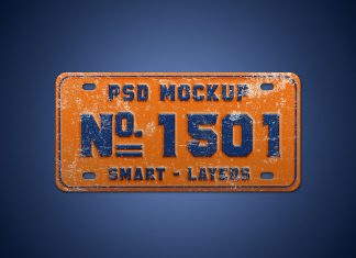 Free-Steel-Car-Number-Plate-mockup-PSD-2