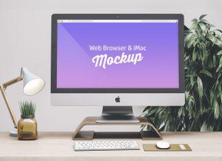 Free-Web-Browser-&-iMac-Mockup-PSD