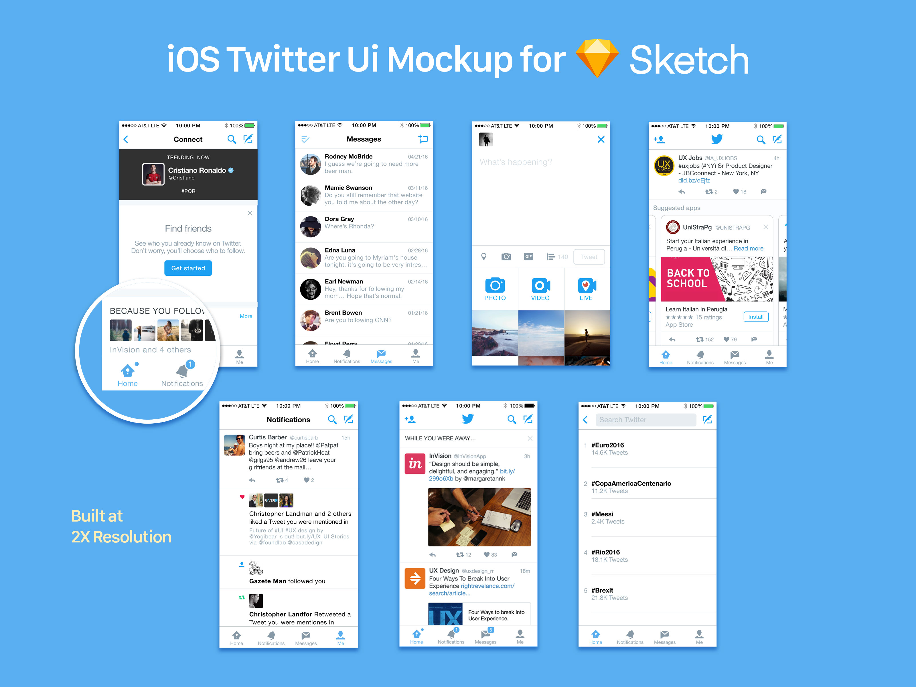 Free iOS Twitter UI Social Media Mockup For Sketch - Good