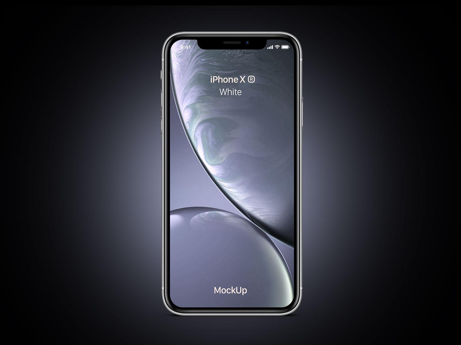 Free-iPhone-Xr-White-Mockup-PSD