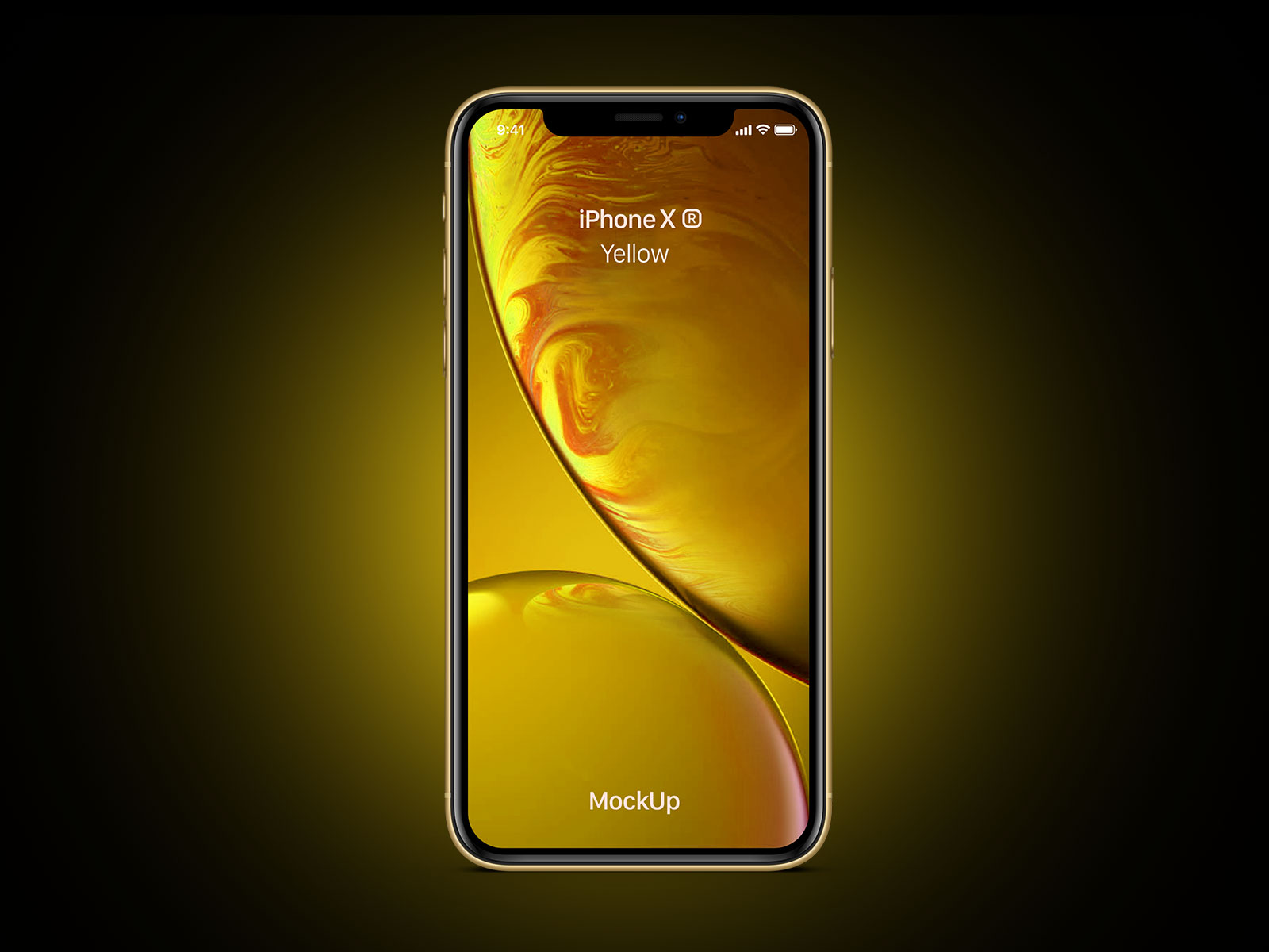 Free-iPhone-Xr-Yellow-Mockup-PSD