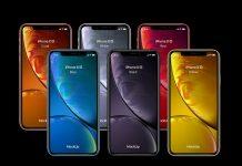 Free-iPhone-Xr-Yellow-White-Black-Red-Corel-Blue-Mockup-PSD-Set