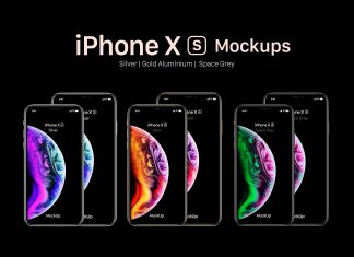 Free-iPhone-Xs-&-Xs-Max-Mockup-PSD-Set