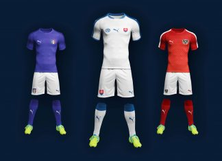Free Complete Soccer Kit Mockup PSD