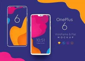 Free-Flat-Version-of-One-Plus-6-Mockup-PSD,-Ai,-XD-&-Sketch-App-Formats-2