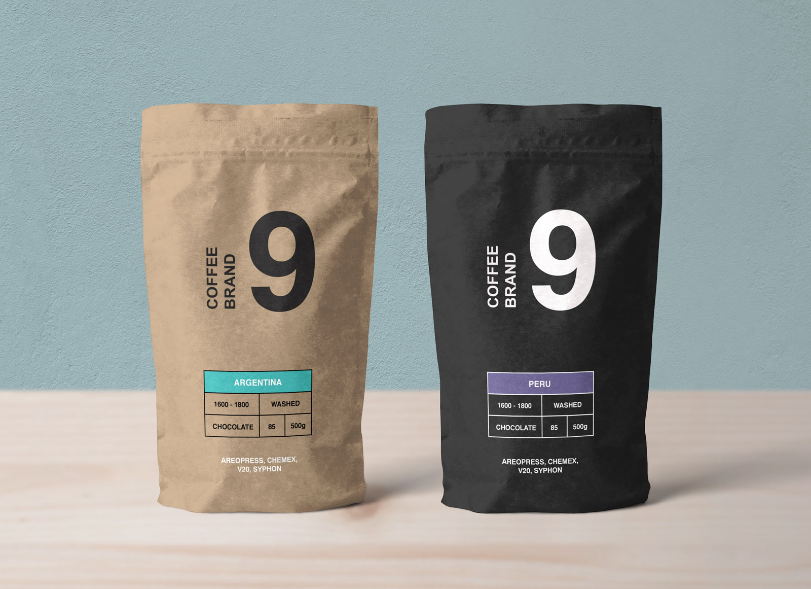 Free-Kraft-Paper-Coffee-Standing-Pouch-Packaging-Mockup-PSD