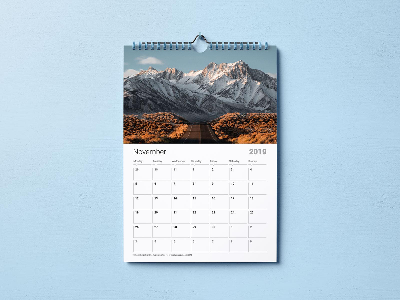 Free-Premium-Wall-Calendar-Mockup-PSD-Set-2019