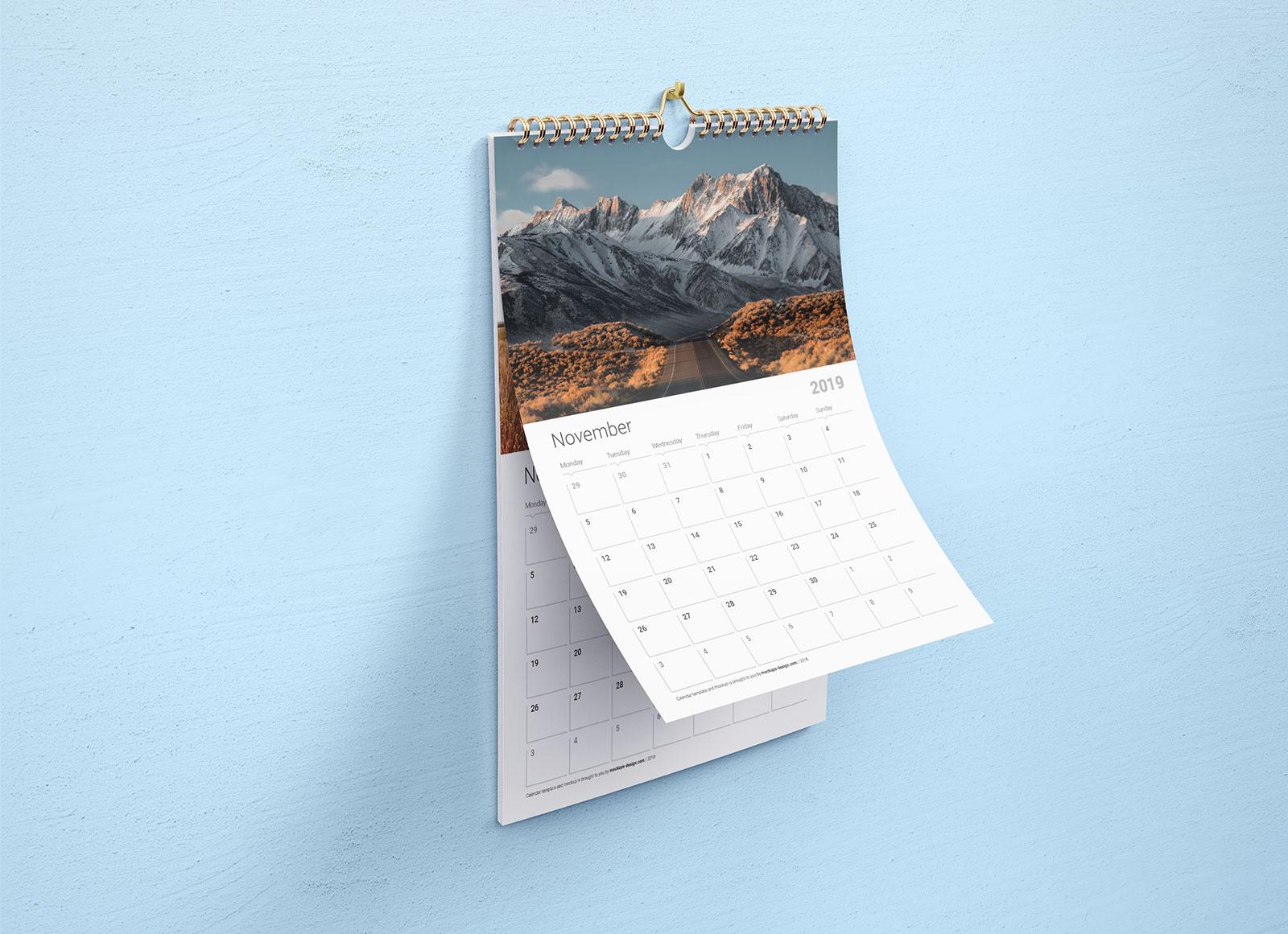 Free-Premium-Wall-Calendar-Mockup-PSD-&-Template-Set-2019