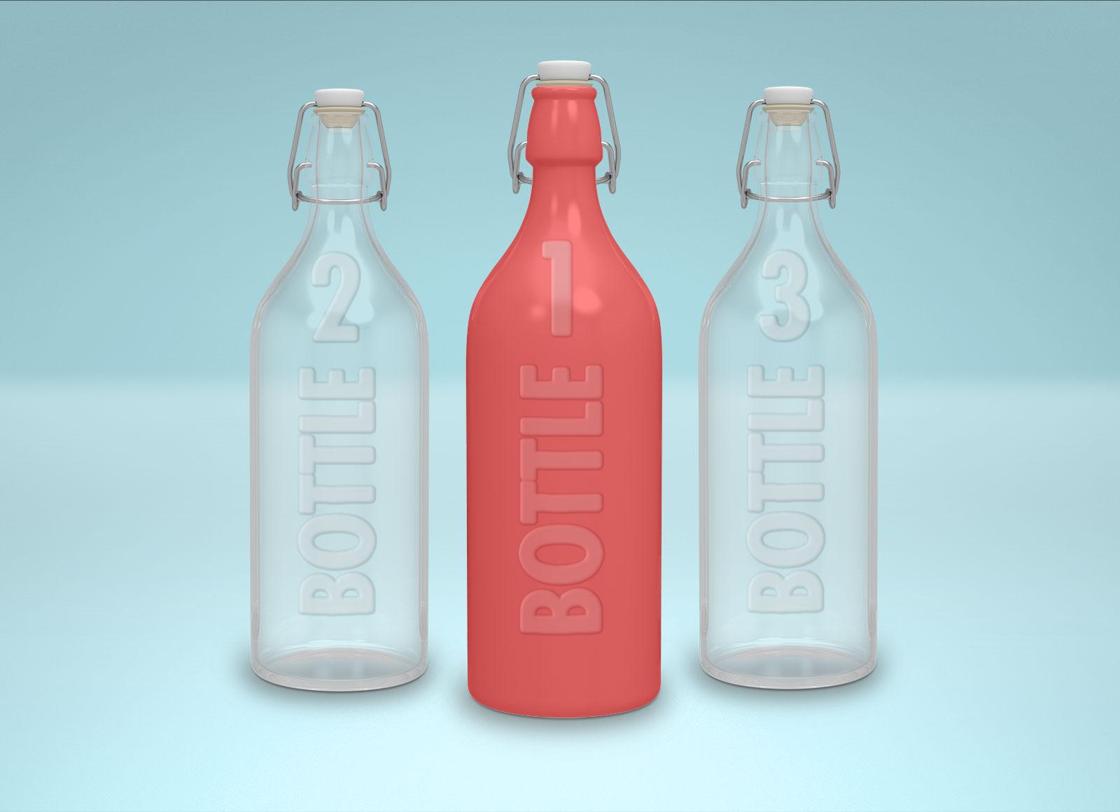 Free-Swing-Cap-Opaque-&-Transparent-Bottle-Mockup-PSD