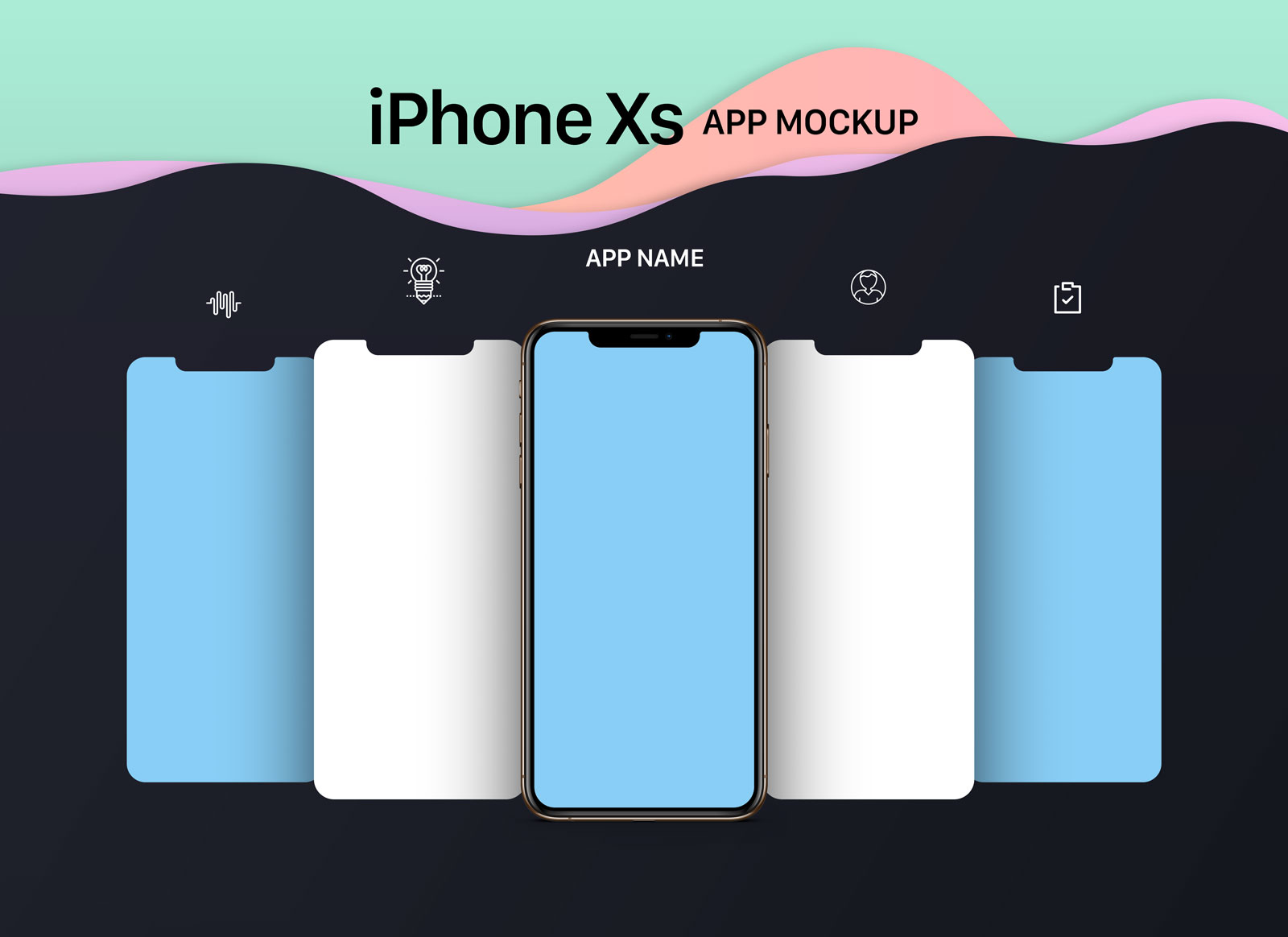 Free-iPhone-XS-App-Mockup-PSD-File