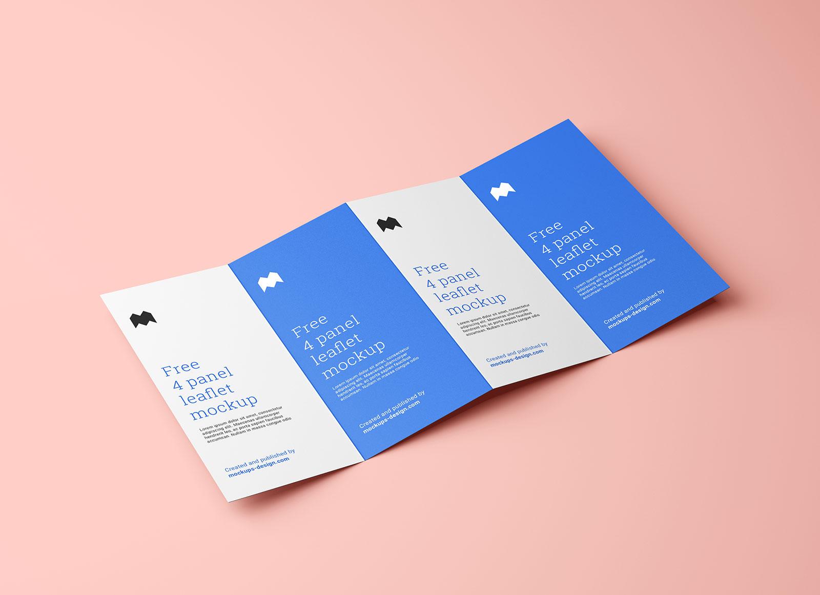 Free-4-Panel-Accordion-Fold-Brochure-Mockup-PSD-Set