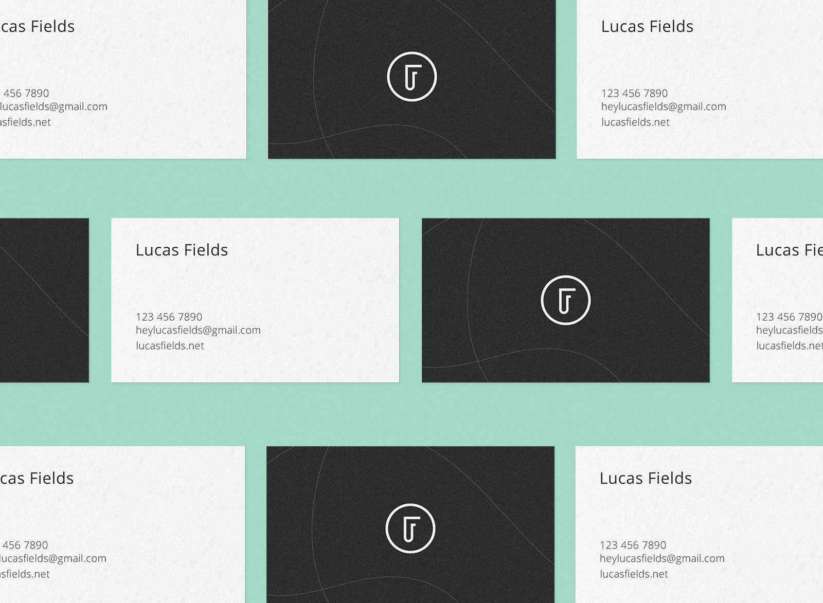 Free High Quality Business Card Mockup PSD Set (2)