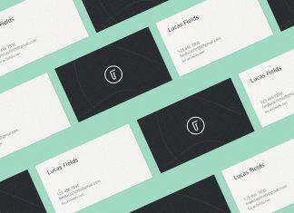 Free High Quality Business Card Mockup PSD Set (3)