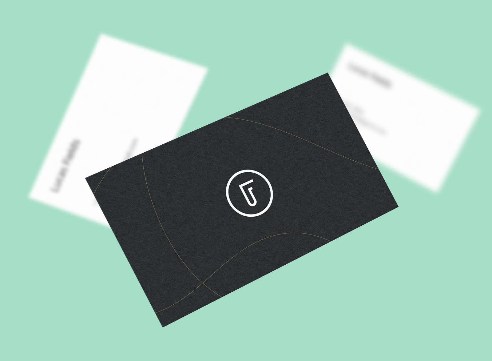 Free High Quality Business Card Mockup PSD Set (4)