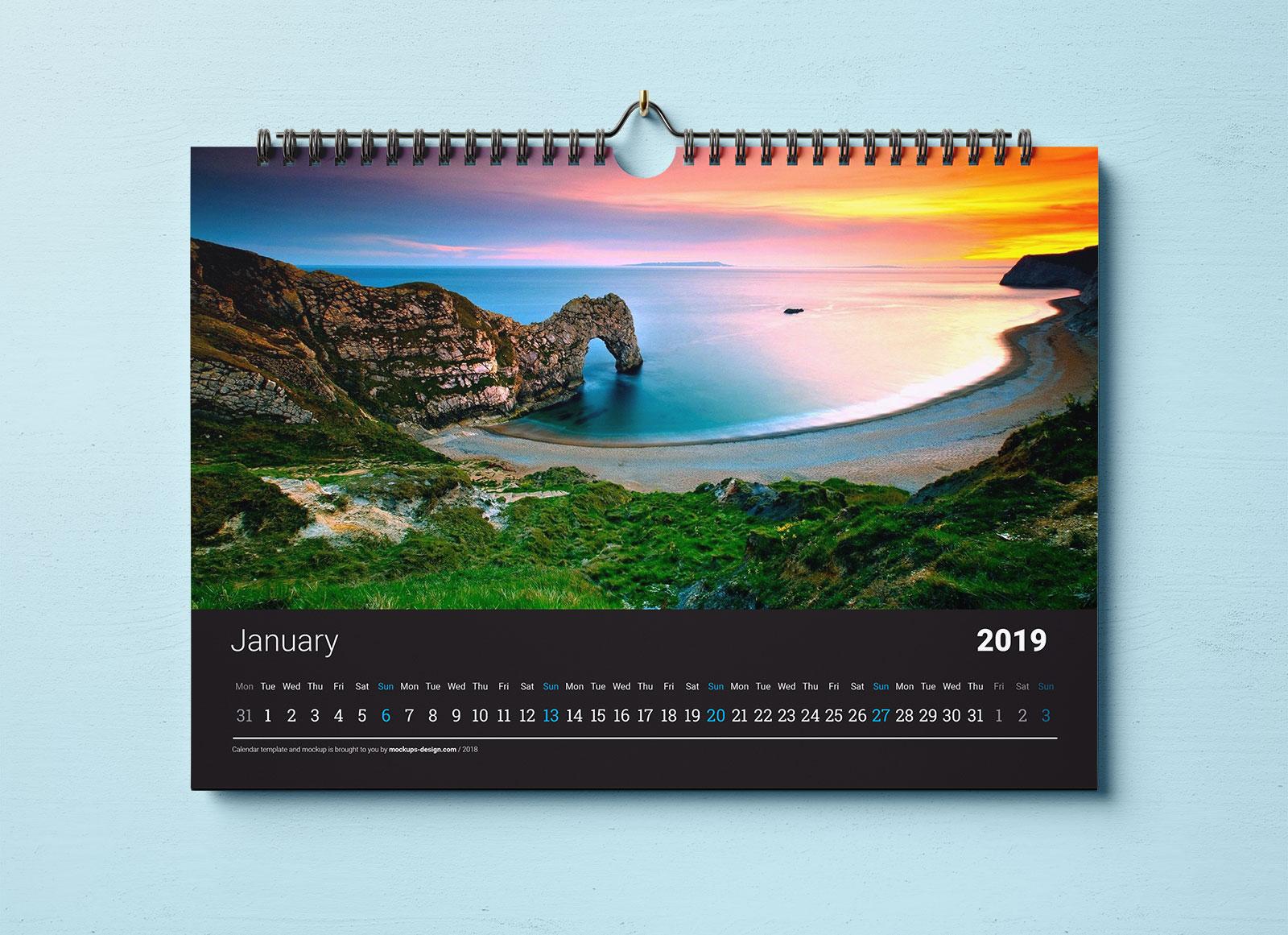 Free-Horizontal-Wall-Calendar-Mockup-PSD-Set