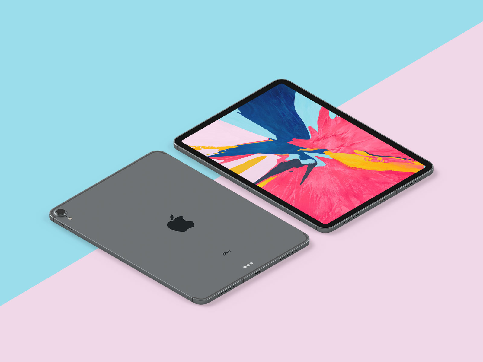 Free-New-iPad-Pro-2018-Mockup-PSD-in-Perspective-Vew-2