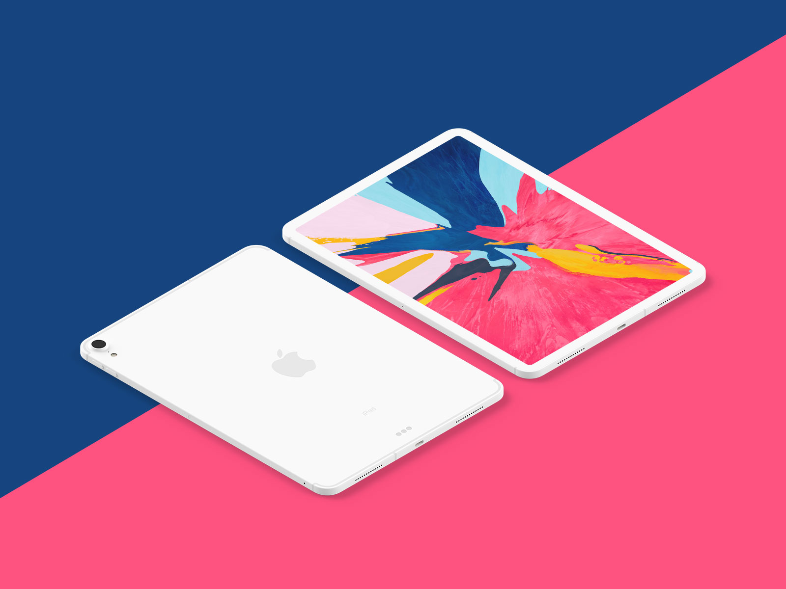 Free-New-iPad-Pro-2018-Mockup-PSD-in-Perspective-Vew-3